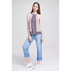 Soft Joie Marinne High Rise Chambray Crop Pants